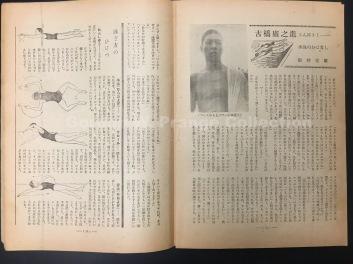 「古橋廣之進さんにきく:水泳のおはなし」子供の時間, vol. 2, no. 7, July 1948, pp. 14-15. [Prange Call No. K-1339]