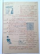 パンフレット3ページ目には、労働組合法についての質疑応答と3つの挿絵が記載されている。